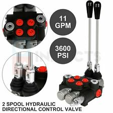 2 Spool 11 Gpm Hydraulic Control Valve Double Acting Tractor Loader With Joystick