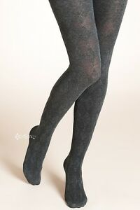 Ladies Ex M&S Argyle Mesh Tights with Wool Diamond Patterned Design S M L