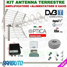 KIT COMPLETO ANTENNA TV DIGITALE TERRESTRE OPTICA 41 ELEMENTI EMMESSE MADE ITALY