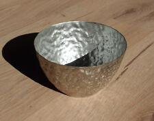 1 x Pflanzschale Deko Schale aus Metall in Silber Blumenvase Vase Dekoschale Neu