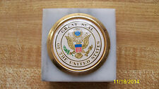 United States Seal Marble Paperweight made in Italy
