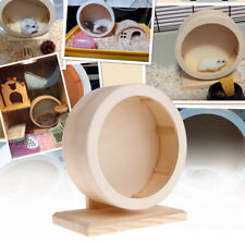 Round Wooden Mute Roller Hamster Running Exercise Hedgehog Sports Wheel Pet To