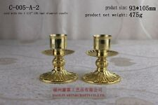 "Brass altar candlestick 2pc for House or Church great price 4""H C-005-A-2"