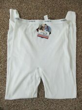 NEW VINTAGE DUOFOLD MEN'S XL WHITE THERMAL PANTS LONG JOHNS UNDERWEAR USA MADE