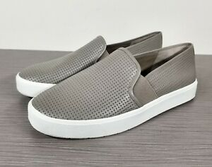 Vince Blair 5 Slip-On Sneaker, Taupe Perforated Leather, Womens Size 7 / 37