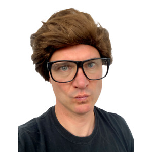 MENS SHORT WIG BOY BAND ADULT MALE FANCY DRESS COSTUME ACCESSORY 60S 70S 80S 90S
