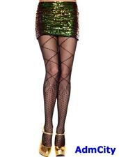 Spandex Diamond Knee High Prine and Faux Laced Up with The Bow Accent Pantyhose