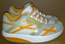 MBT Women's M. Walk Toning Walking Orange White Sneaker Shoes. Size 7.5