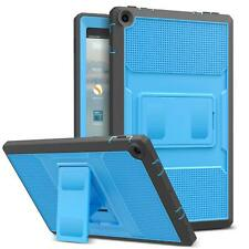 MoKo For Amazon Fire HD 10 7th 2017 Heavy Duty Full Body Protect Case Cover Blue