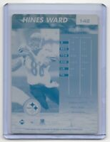 1/1 HINES WARD 1999 EDGE FURY CARD 142 PRINTING PLATE PITTSBURGH STEELERS 1 OF 1