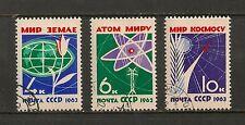 Russia #2720-2722 VF USED - 1963 4k to 10k Flower, Globe, Atom & Rocket