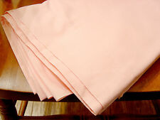 FULL SIZE FLAT BED SHEET-SOLID PINK-J.C. PENNY TRADITIONAL-50/50 COTTON POLY