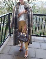 PN Pelze Noltensmeyer Real Fox fur long coat sz S
