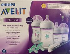 Philips Avent Natural Baby Bottle Newborn Starter Gift Set, Seahorse- New