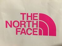 New large The North Face Sticker -hot pink logo