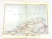 1902 Antik Eisenbahn Map Of Gratis Stadt Von Danzig Deutschland Gdansk Polen
