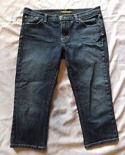 Womens/Juniors David Kahn Denim Capri Jeans ~ Sz 29 ~ Slim ~ Slightly Distressed