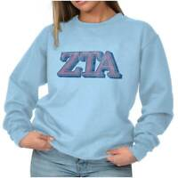 Vintage Authentic Zeta Tau Alpha Sorority Sweat Shirt Sweatshirt For Womens