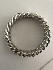Ladies Solid Sterling Silver Bangle 925  127gm