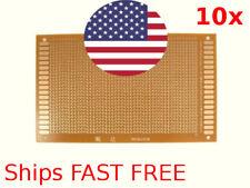 10pc PCB circuit board copper traces 9cm x 15cm USA Seller