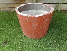 Large brown red concrete pot, Item 329, Pick up Langwarrin