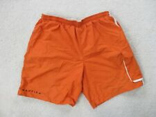 Nautica Swim Trunks Adult Extra Large Orange Blue Bathing Suit Shorts Men 90s A9