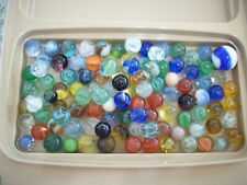 Lot of 100 Vintage Marbles Asst. Cats Eyes Swirls Agate Lot #6
