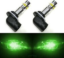 LED 50W 896 H27 Green Two Bulbs Fog Light Replacement Show Use Lamp JDM