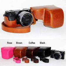 Leather Camera case bag Cover For  Sony alpha a6000 A6300 NEX6 nex-6 +16-50mm