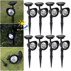 Solar Power 4-LED Outdoor Garden Yard Flood Light Lawn Landscape Lamp Bulb IP65