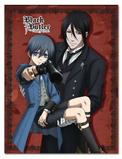 Black Butler Sebastian and Ciel Book of Circus Throw Blanket NEW! FREE SHIPPING