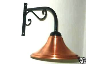 Wall Lamp Outdoor Wrought Iron With Dish- Copper Rustic Furniture