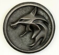The Witcher necklace wall art Geralt of Rivia wolf pendant sculpture wall decor