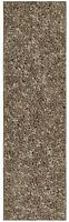 Solid Color Brown Custom Size Runner Area Rug