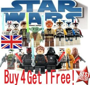 🌌Star Wars CUSTOM Lego Mini Figures Building Jedi Sith Marvel UK FAST Party Bag