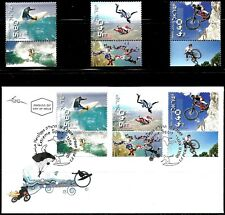 ISRAEL 2009 Stamps & FDC EXTREME SPORTS  MNH XF