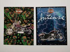 Vintage 1997 Mead School Folders Harley Davidson set of 2 Preowned EUC