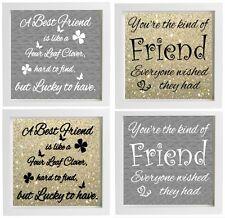 Vinyl Sticker DIY Box Frame fits 20x20cm  BEST FRIEND Quote  Special Friend gift