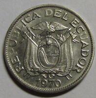 """Ecuador 5 centavos 1970 UNC KM# 75c - ERROR: Without """"U"""" in """"Ecuador"""", RARE!"""