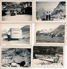 Environs GRENOBLE Alpes 1935 - 19 Photos Autos Café Montagne - 1