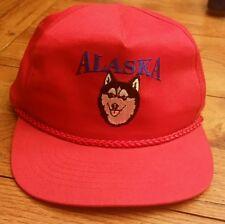 Vintage Snapback Iditorod ALASKA husky dog mesh trucker 80's Mint awesome