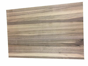 "Solid wood counter top Natural Walnut 30"" W x 60"" L x 1 1/8"" T"