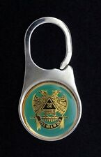 Masonic Scottish Rite 32nd Degree Stainless Steel Key Tag (32KC-ST)