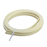 Guitar Bindings Purfling Strip ABS Cream 1650 x 5 x 1.5mm 2 Pcs for Luthier DIY