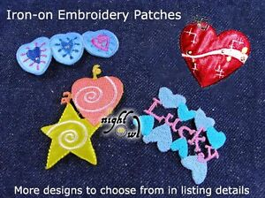 Embroidered Iron-on Appliques, Jeans Patches, Choice of Cute, EMO & Sexy Designs