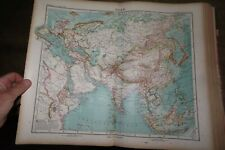 More details for 1922 stieler hand atlas by perthes 100 maps asia africa russia turkey china