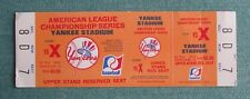 NEW YORK YANKEES AMERICAN LEAGUE CHAMPIONSHIP SERIES UPPER STAND SEAT TICKET