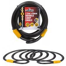 Fort Knox 8 mm x 2,5 mètres de long câble de sécurité vélo tondeuses tronçonneuses pas chaîne