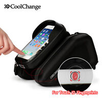 Waterproof Cycling Bicycle Frame Pannier Bag Bike Front Tube Phone Bag 6.2 inch