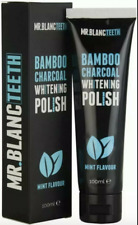 2x Mr Blanc Teeth Charcoal Toothpaste - Natural Teeth Whitening Polish - 100ml